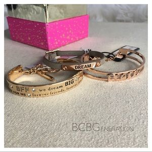 BCBGeneration Gold/Rose Gold Dream Peace BFF Lot